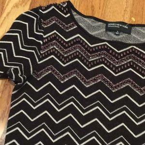 Jones New York~~Beaded bodice Sweater~~NICE ❤️